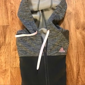 LIKE NEW Full zip ADIDAS hoodie